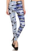 Womens Plus Suze Blue Camo Design Leggings