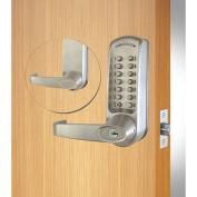 Codelocks Mech Lockset w/Grade 1 Cyl Chassis, CL615IC-CC-BS, EZ Code Chg, Interch Core, Silver Grey
