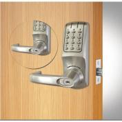 Codelocks ANSI Grade 2 Dual Key Pad Heavy Duty Electronic Lockset, CL5210IC-BB-BS, Brushed Steel