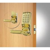 Codelocks ANSI Grade 2 Heavy Duty Electronic Tubular Lockset, CL5210-PB, Polished Brass Finish