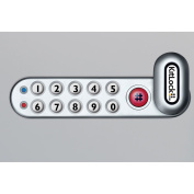 "Codelocks 4-In-1 Electronic Cam Lock, KL1006LH-SG, Up to 1"" Thick Matl, LH Horz, Silver Grey"