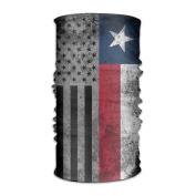 ZQQZ USA Texas State Flag Multifunctional Magic Headwear 12-in-1 Men & Women Tube Scarf Facemask Headbands Neck Gaiter Bandana Balaclava Helmet For Outdoor Running Yoga Work Out