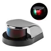 LEANINGTECH Boat Marine LED Navigation Lights Marine Navigation Lamp, Stainless Steel Shell, Red and Green LED for Boat Pontoon Yacht Skeeter