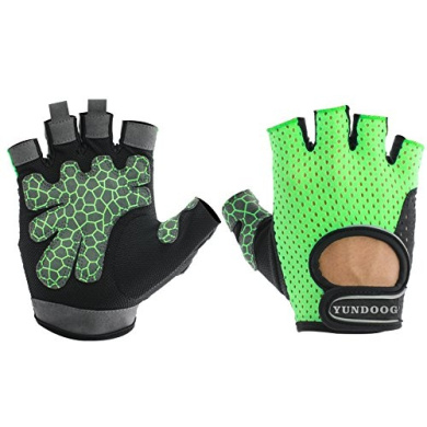 YunDoog Sports Half Finger Gloves for Workout, Training, Fitness, Bodybuilding and Exercise Men & Women
