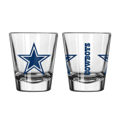 Official Fan Shop Authentic NFL Logo 60ml Shot Glasses 2-Pack Bundle. Show Team Pride at home, your Bar or at the Tailgate. Gameday Shot Glasses for a goodnight