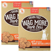 Cloud Star Wag More Oven Baked Grain Free Biscuits - 410ml Peanut Butter, Apples