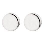 Sterling Silver Flat Disc Earrings
