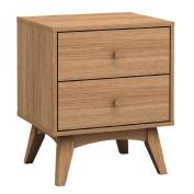 Solano Adriana 2 Drawer Bedside Cabinet Brown