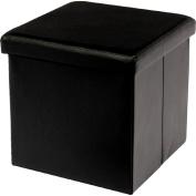 Solano Folding Ottoman Single Black