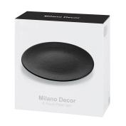 Milano Decor Stoneware 6 Pcs Plate Set - Black