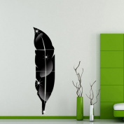 Matoen Removable Feather Mirror Wall Stickers Decal Art PVC Home Room Decoration DIY