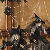 90cm Beaded Glass Spider Web Halloween Décor