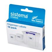Sistema Organiser Labels 16 Pack White