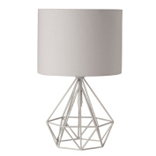 Living & Co Chaz Geo Table Lamp White