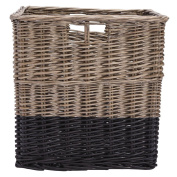 Solano Willow Basket Square Dipped Black Large