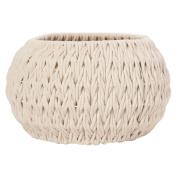 Solano Cotton Rope Basket Plaited Round Cream