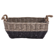 Solano Willow Basket Laundry Rectangle Dipped Black