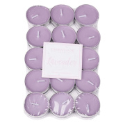 Essentials Tea Light Candles Scented Floral Lavender 30 Pack