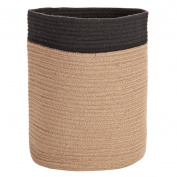 Solano Jute Basket Round Natural Black Small
