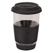 Living & Co Glass Double Wall Travel Mug Black