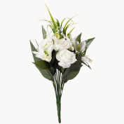 Artificial Rose And Lily Bunch White 42cm