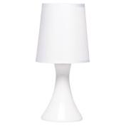 Necessities Brand Pisa Ceramic Lamp 28cm White