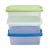 Taurus Clear View Storage Organiser with Lid 15L Assorted