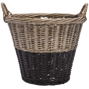 Solano Willow Basket Laundry Round Dipped Black
