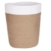 Solano Jute Basket Round Natural White Large