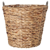 Solano Hyacinth Metal Ring Handle Basket Natural