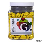 Gemnique Opaque Glass Gems 1420ml Jar Yellow