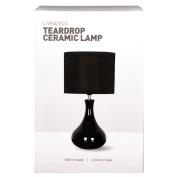 Living & Co Teardrop Ceramic Table Lamp Black