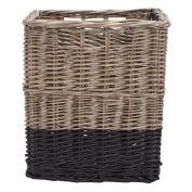 Solano Willow Basket Square Dipped Black Medium