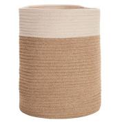 Solano Jute Basket Round Natural White Small