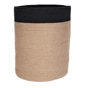 Solano Jute Basket Round Natural Black Large