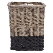 Solano Willow Basket Square Dipped Black Small