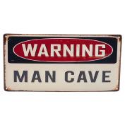 Metal Art Warning 40cm x 20cm