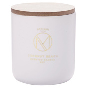 Artisan Homme Masculine Small Jar Candle with Lid Scent Coconut Beach 7.