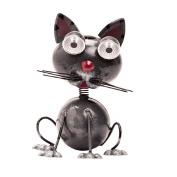 Solar Light Metal Cat