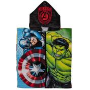 Avengers Hooded Beach Towel Warning Multi-colour 50 x 110cm