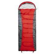 Navigator South All Seasons Sleeping Bag Hooded Medium Red/Grey