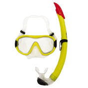 Aqua Splash Adult Tempered Glass Mask & Snorkel Set