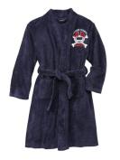Joe Boxer Boys Navy Blue Plush Football Themed Fleece Bath Robe House Coat