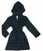 KOMAR KIDS Boys Hooded Plush Fleece Wrap Bath Robe