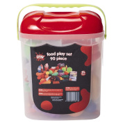 Play Studio Plastic Food Play Set in Container 90 Piece Set