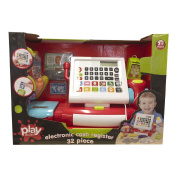 Play Studio Electronic Toy Cash Register 32 Piece Set