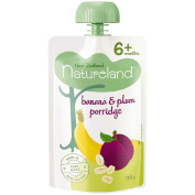 Natureland Banana and Plum Porridge Pouch 120g