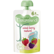 Natureland Mixed Berry Custard Pouch 120g