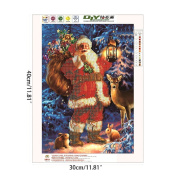 Yumian Santa Claus Embroidery 5D Diamond DIY Painting Cross Stitch Home Decor