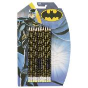 Batman DC Comics HB Pencil with Eraser Set 10 Pack